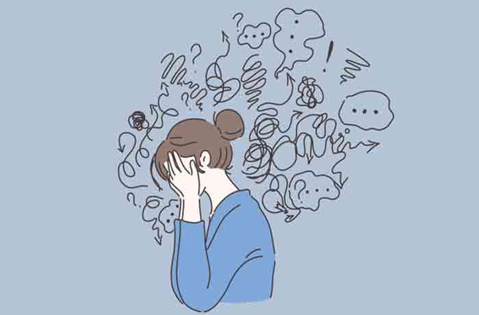 『うつ病』になってしまう事例3点画像